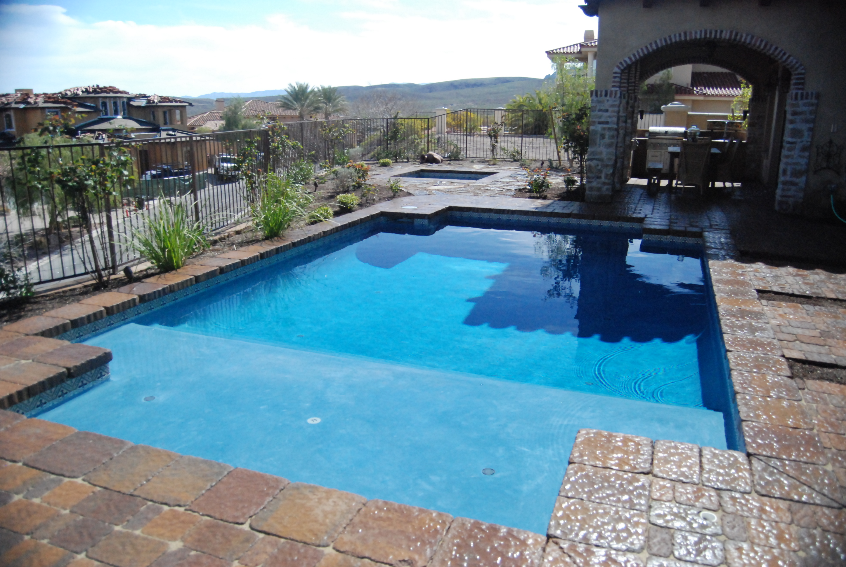 Summer vacation is just around the corner las vegas pool for Pool building companies