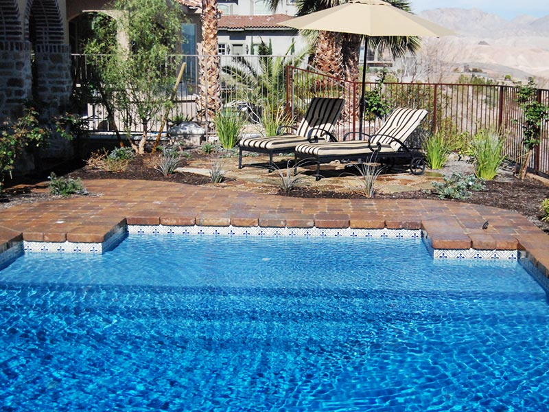 Geometric las vegas pool construction company pool for Pool building companies