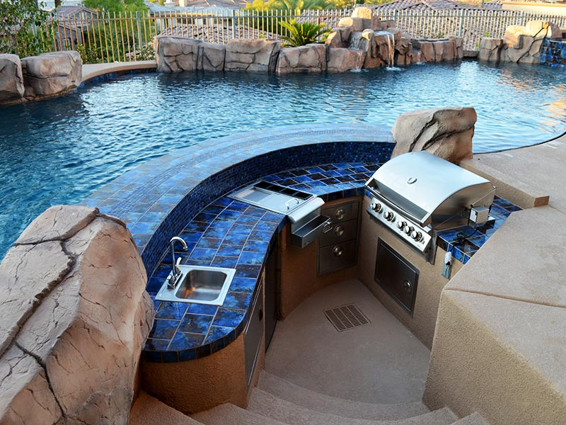 Outdoor Kitchens Las Vegas Pool Construction Company Pool Builder Landscaping Laguna