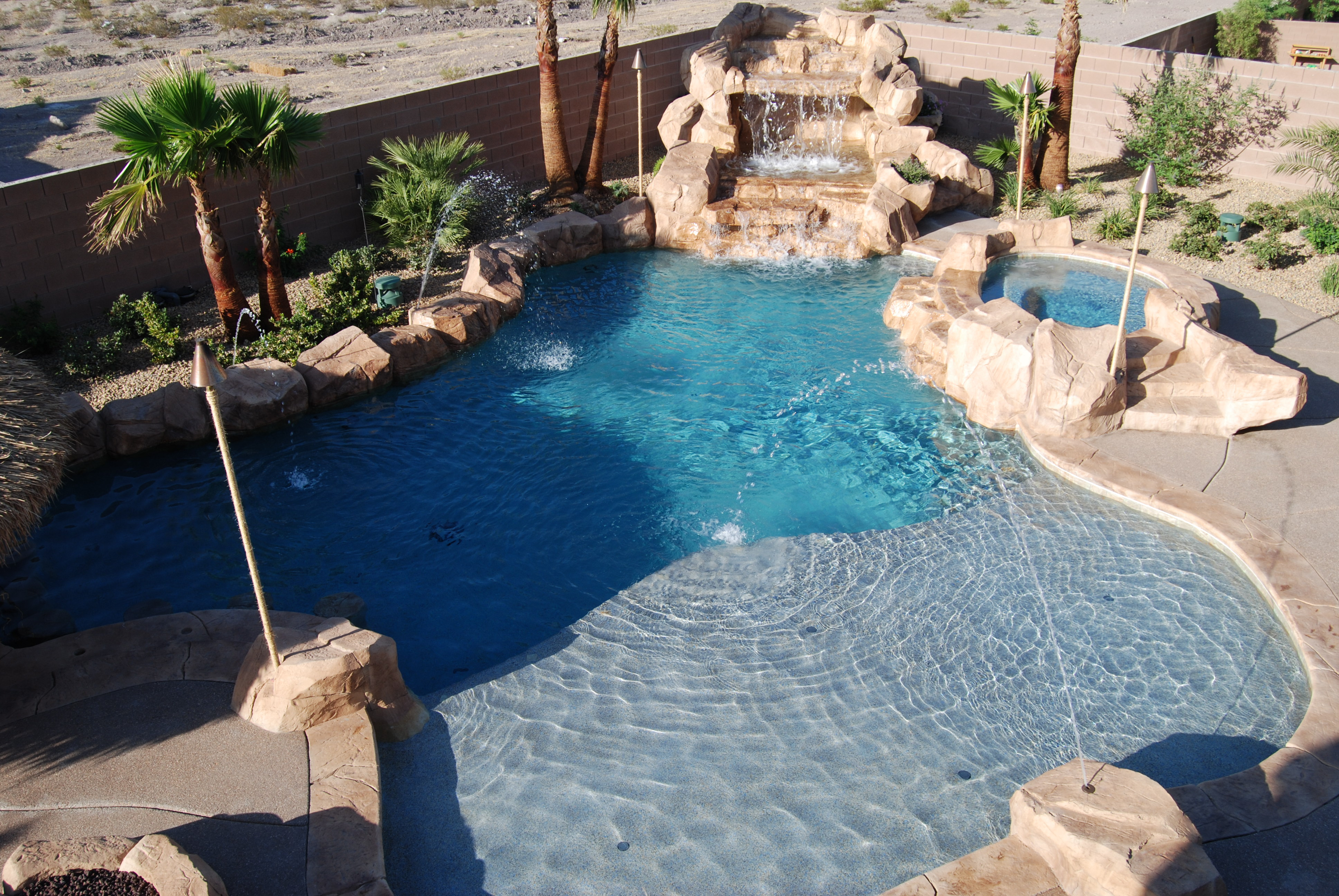 Pool Features - Las Vegas Pool Construction Company Pool Builder Landscaping - LagunaLas Vegas ...